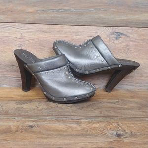 MICHAEL Michael Kors Leather Clog Heels